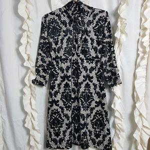 Uncle Frank VTG inspired rockabilly damask dress